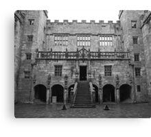 Chillingham Castle Courtyard Canvas Print