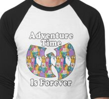 Adventure Time Is Forever (white font) Men's Baseball ¾ T-Shirt