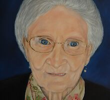 """""""Portrait of Katherine - an Irish Lady"""" - oil painting by Avril Brand"""