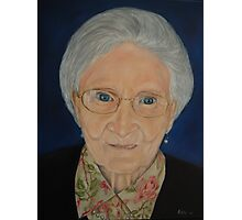 """Portrait of Katherine - an Irish Lady"" - oil painting Photographic Print"