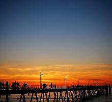 Glenelg Sunset by Richard Owen