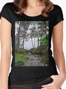 a wonderful Vanuatu landscape Women's Fitted Scoop T-Shirt