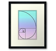 Golden Ratio Rectangle Gradient Framed Print