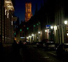 Street in Brugge (Belgium) by Antanas