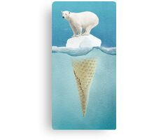 polar ice cream cap Canvas Print