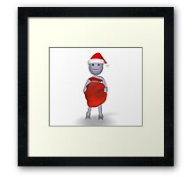 3d character with Christmas gifts Framed Print