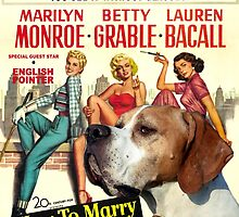 Pointer Art - How To Marry a Millionaire Movie Poster by NobilityDogs