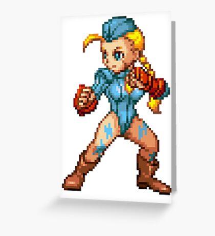Cammy - Street Fighter Sprite Greeting Card