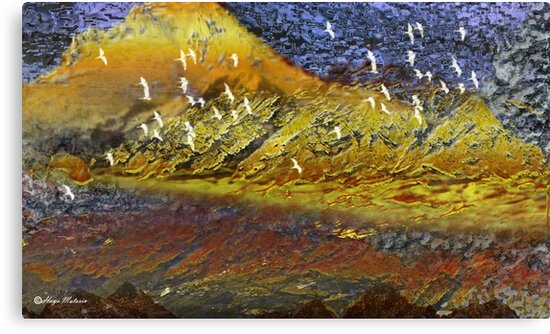Desert-flying birds/ abstract 122-  Art + 22 Products Design  by haya1812