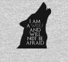 I Am A Wolf And Will Not Be Afraid Womens Fitted T-Shirt