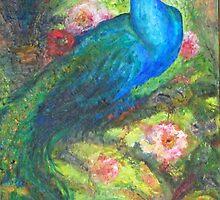 Blue/Green Peacock by sharlesart