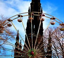 Walter Scott Monument & Wheel by James Pringle