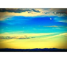 Moon at dusk Photographic Print