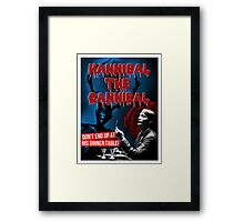 Hannibal the Cannibal - B-Movie Poster Framed Print