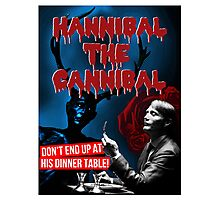 Hannibal the Cannibal - B-Movie Poster Photographic Print
