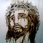 jesus wood art by michaelduncan