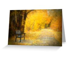Nature's Golden Corridor Greeting Card