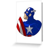 Captain bust Greeting Card