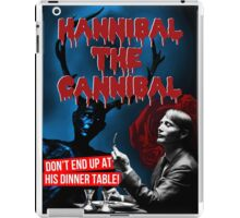 Hannibal the Cannibal - B-Movie Poster iPad Case/Skin