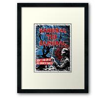 Hannibal the Cannibal - Vintage B-Movie Poster Framed Print