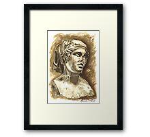 Female Bust - Sculpture I-III DC, Rome Framed Print