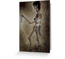 XV: She's a Burning String... Greeting Card