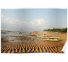 Early morning beach scene in Bali Poster