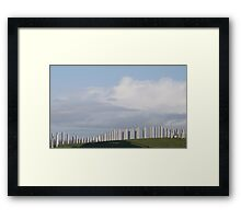 Waves Sculpture Framed Print