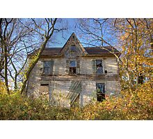 Gingerbread Abandoned House Photographic Print