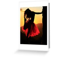 Dancing on High Greeting Card