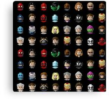 Marvel Hero Minifigures Canvas Print