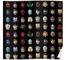 Marvel Hero Minifigures Poster