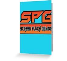 Screen Punch Gaming Greeting Card
