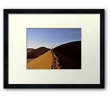 footprints in the Namib Framed Print