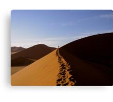 footprints in the Namib Canvas Print