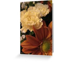 Autumn Bouquet - Daisy, Carnations, & Baby's Breath Greeting Card