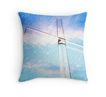 Crystal Cross- rendered as colored pencil sketch Throw Pillow