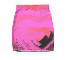 HEART LAYERS Mini Skirt