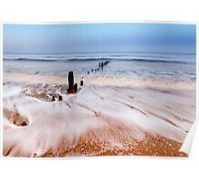 Surf at Sandsend  - North Yorkshire England Poster