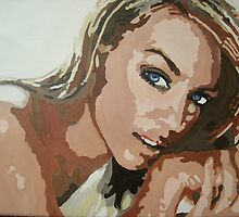 Kylie Minogue in pop art by Deborah Boyle