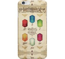 Legend of Zelda The Rupees Geek Line Artly iPhone Case/Skin