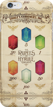 Legend of Zelda The Rupees Geek Line Artly by barrettbiggers