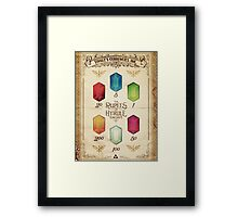 Legend of Zelda The Rupees Geek Line Artly Framed Print