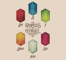 Legend of Zelda The Rupees Geek Line Artly T-Shirt