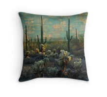 Desert Landscape Throw Pillow