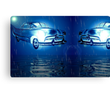 Fords over midnight ocean  Canvas Print
