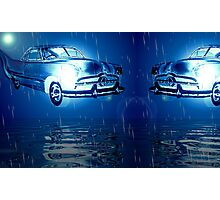 Fords over midnight ocean  Photographic Print