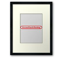 Screen Punch Gaming Alternate Framed Print