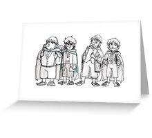 Four of Nine companions Greeting Card
