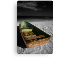 Green Paddle Boat, Playa Del Carmen, Mexico Canvas Print